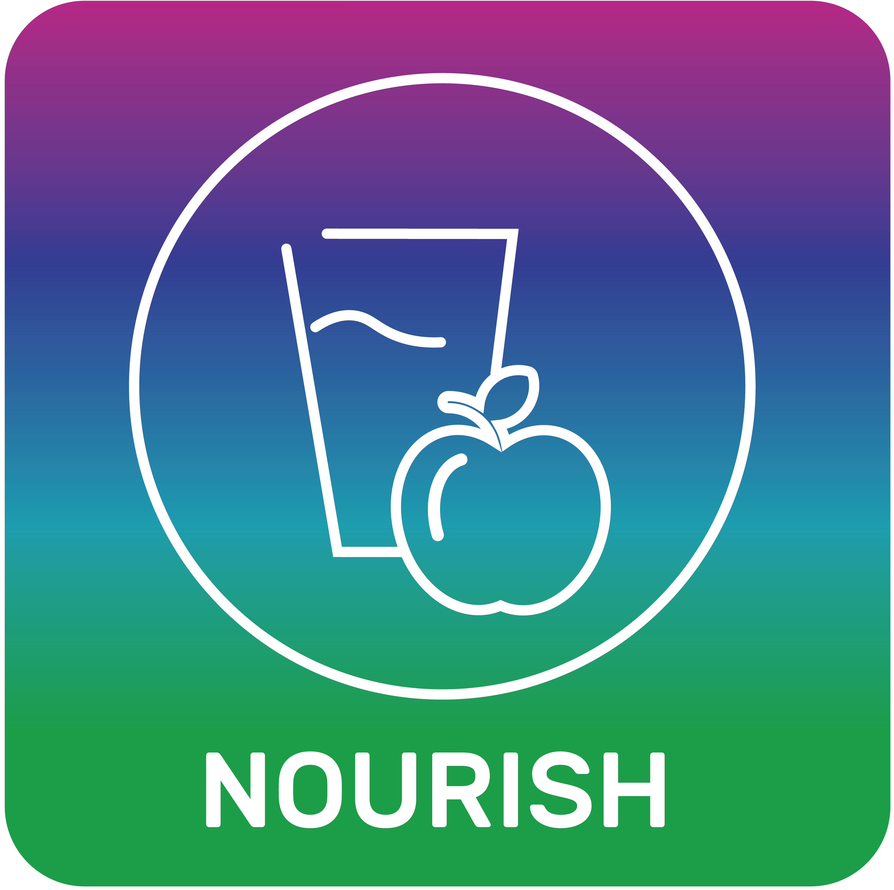 Nourish DNA app by Toolbox Genomics in Sequencing.com's Genome App Store provides DNA personalized nutrition guidance and works with DNA data from AncestryDNA, 23andMe, FTDNA, My Heritage, Genes for Good (GFG), Helix, All Of Us, Dante Labs, Illumina, LivingDNA and genome sequencing.