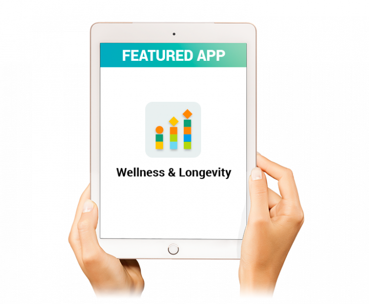 Wellness and Longevity raw DNA data analysis app icon by App MD in the Sequencing.com DNA App Store
