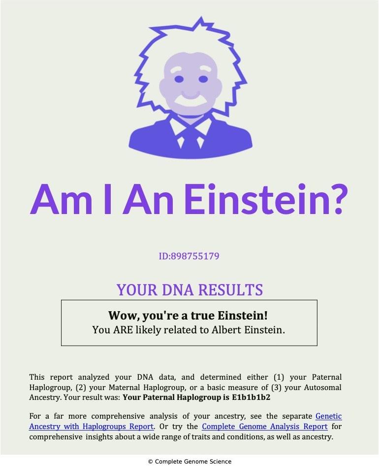Einstein Genetic Test