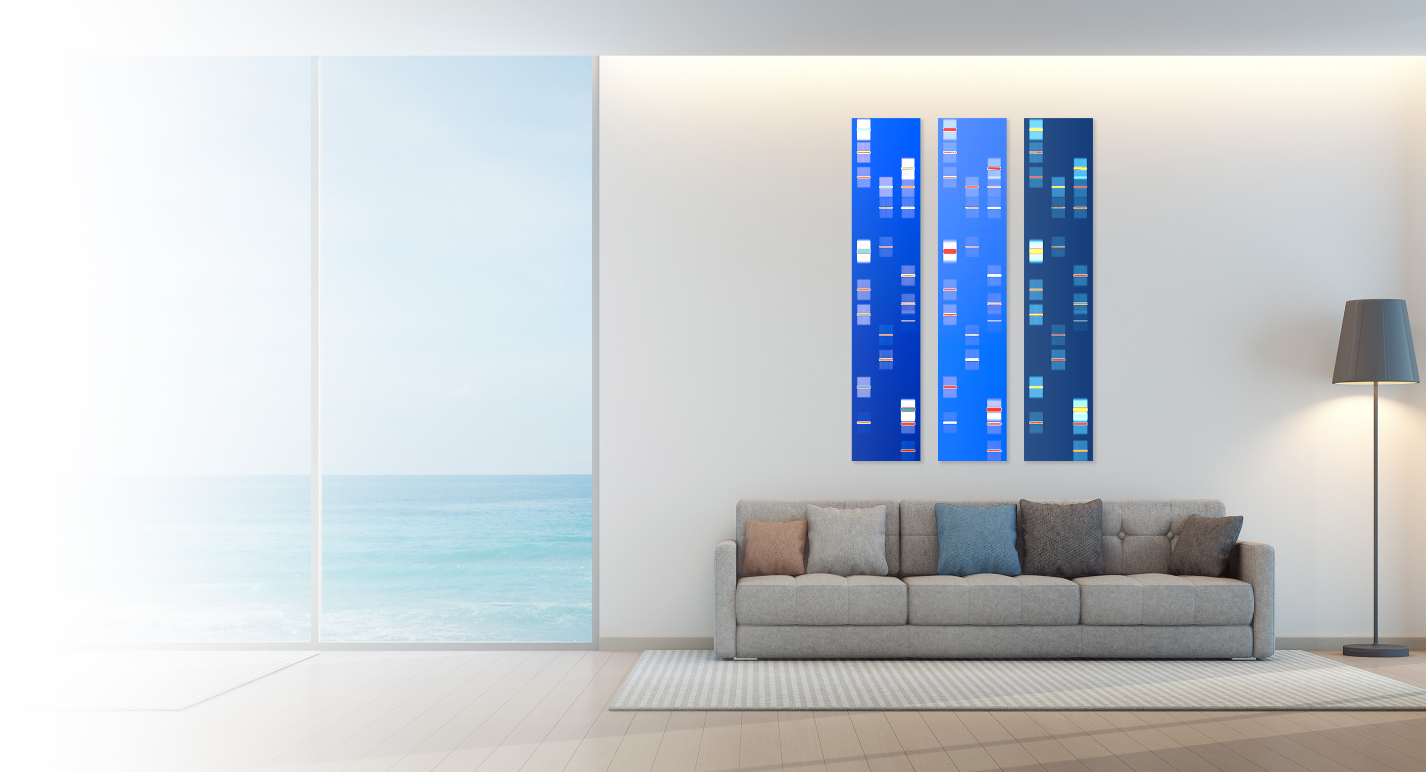DNA Art US produces personalized artwork for you, your family and for corporate offices that works with all gene tests such as 23andMe, AncestryDNA, Helix, Family Tree DNA, MyHeritage, Veritas Genetics, Genos, Illumina & genome sequencing.