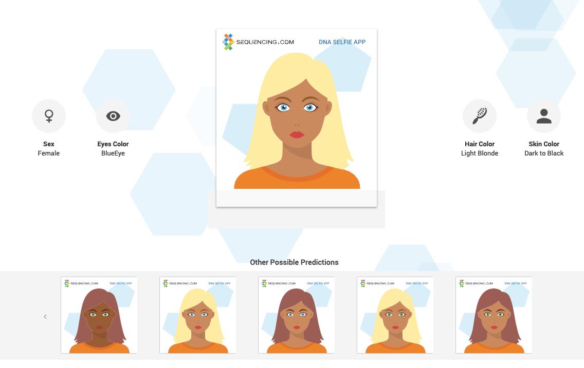 DNA Selfie genome avatar app