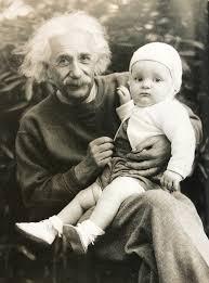 Albert Einstein with daughter