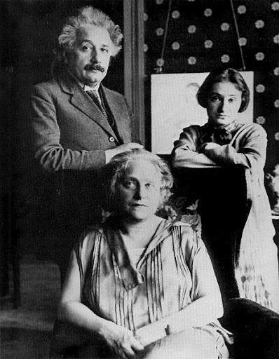 Albert Einstein with sister and mother