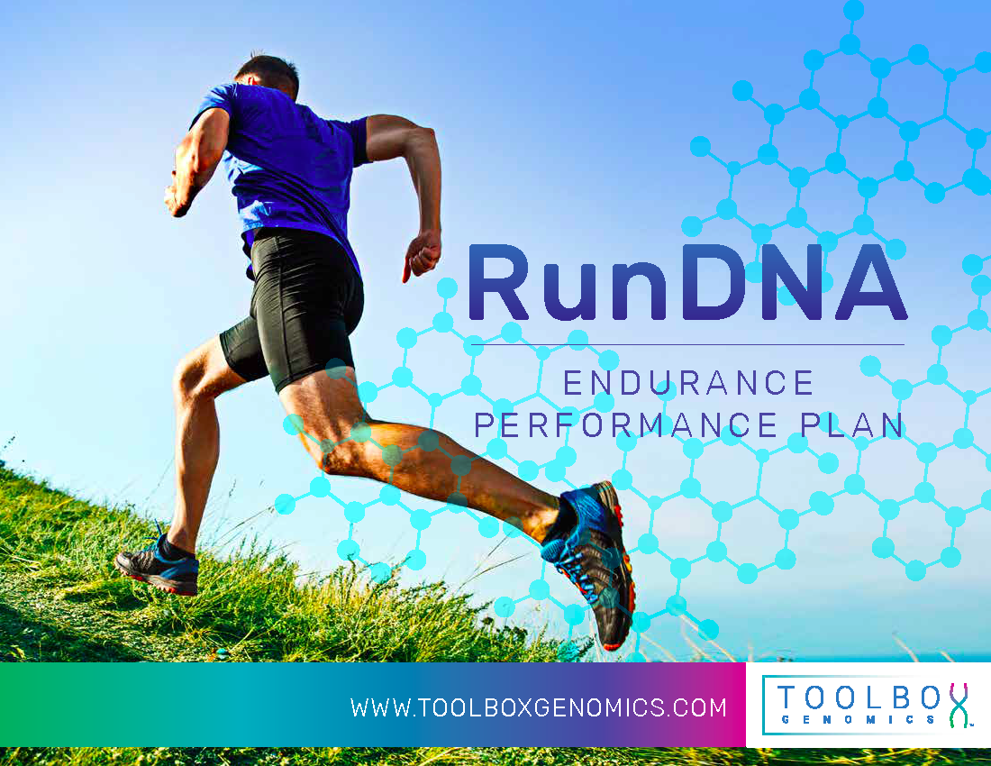 Run DNA app assessment provides the ultimate personalized health action plan.