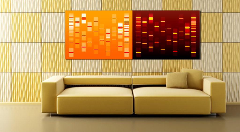 Couples DNA artwork