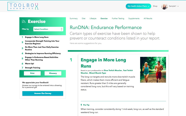 RunDNA - Exercise Tips