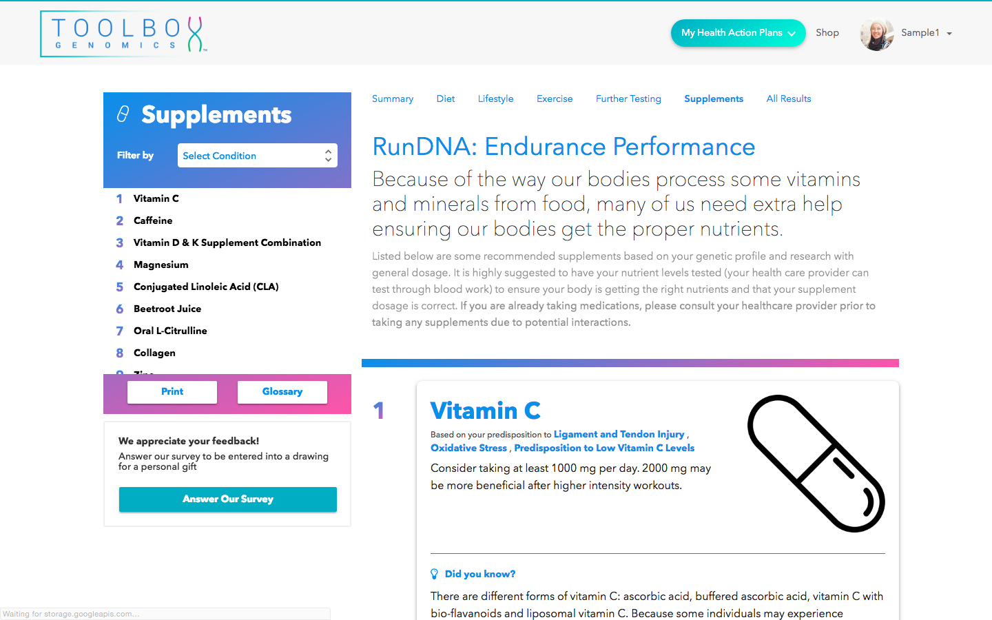 RunDNA - Supplement Tips