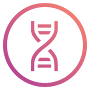 Double Helix icon for the Welcome Report DNA Analysis App by Athletigen in the Sequencing.com Genome Analysis and Bioinformatics Store