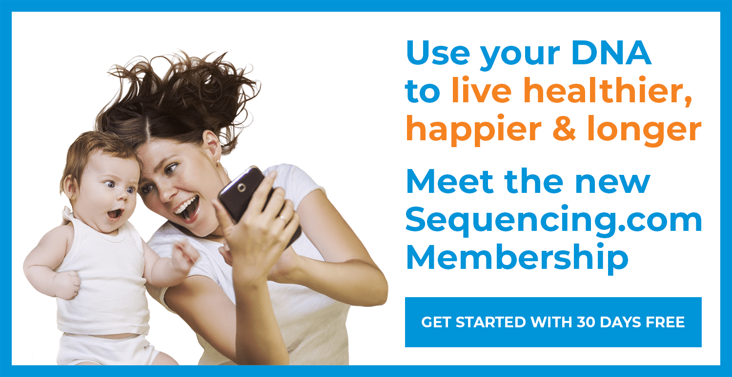 Use your DNA to live healthier, happier and longer with the Sequencing.com Membership Program.