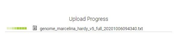upload progress of raw dna data