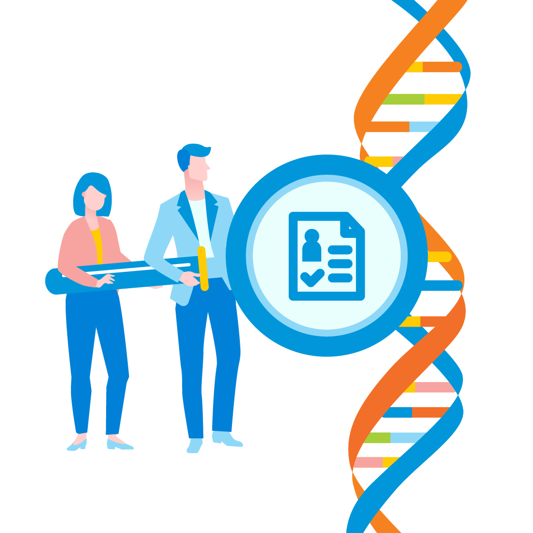 what does a dna report look like