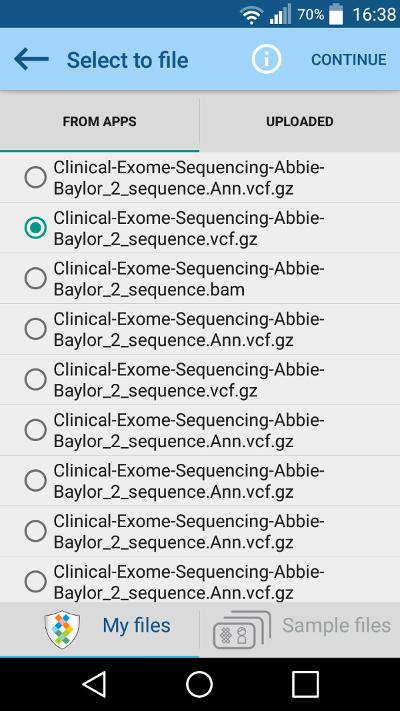 File selector my files