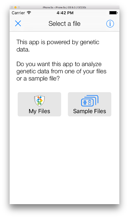 Fileselector intropage