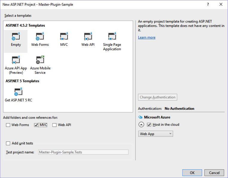 Net master plugin select template