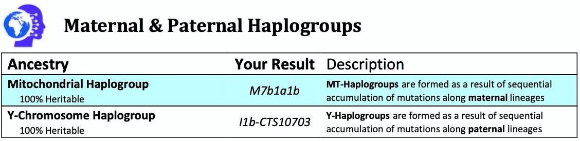 Maternal and Paternal Haplogroup Analysis
