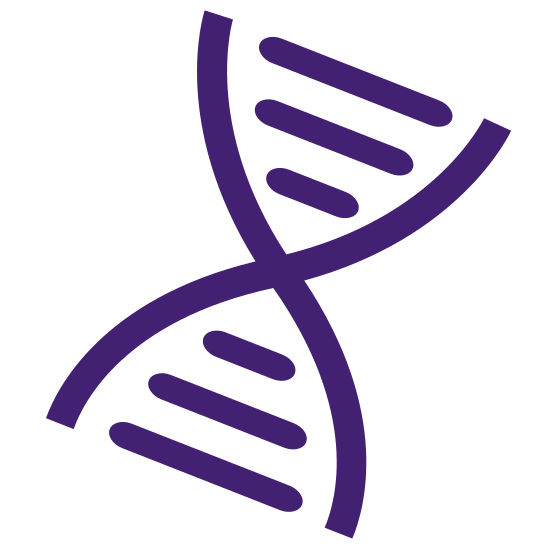 Genetic Counseling app icon by DNAFeed provides access to licensed professionals and experts to ask any questions about DNA data, genome data, gene tests and results from 23andMe, Ancestry, MyHeritage, FamilyTreeDNA FTDNA, Dante Labs, Helix & LivingDNA.