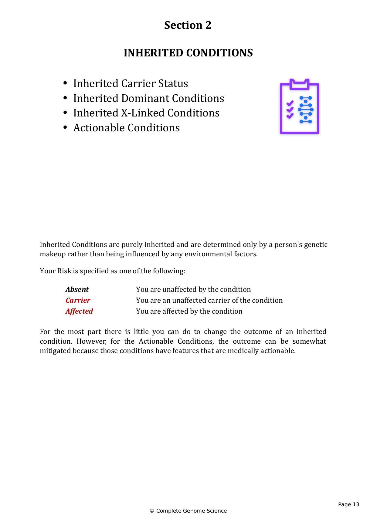 Complete genome analysis dna report cgs sequencingcom page 013